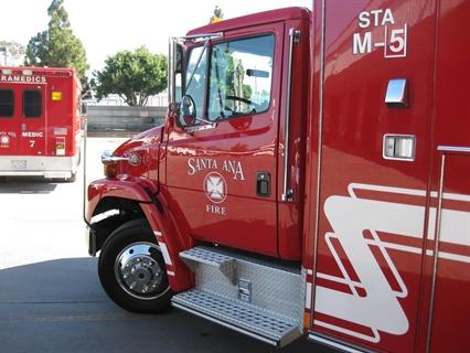 Santa Ana's Permagard-treated fire truck.