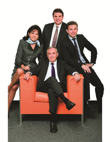 Though Sixt is a public company, it is still family driven. Erich Sixt, chairman of the board of directors, is flanked by his wife Regine, senior executive vice president for Sixt international marketing, and sons Alexander (back) and Konstantin, representing the fourth generation of the family within the company. Alexander is head of corporate development, while Konstantin manages the company's Internet activities.