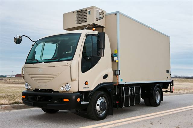 Georgia Tech researchers used a Smith Newton battery-electric delivery truck similar to the one above to study the total cost of ownership for medium-duty battery-electric delivery vehicles versus medium-duty diesel delivery vehicles. The researchers found that the two vehicles had similar performance in most areas.
