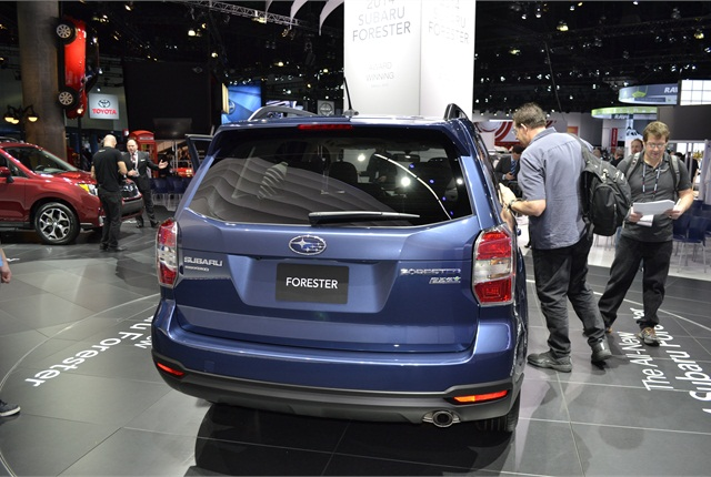 Cargo room in the 2014 Forester, with the rear seats folded down, is 74.7 cu. ft.