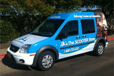One of the Ford Transit Connect vans The Scooter Store used in its fleet.