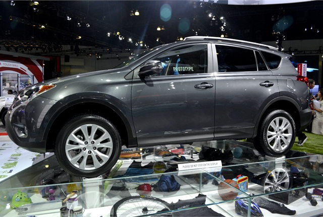 Photos by Joanne TuckerThe 2013 RAV4 comes with a 2.5L four-cylinder engine option.