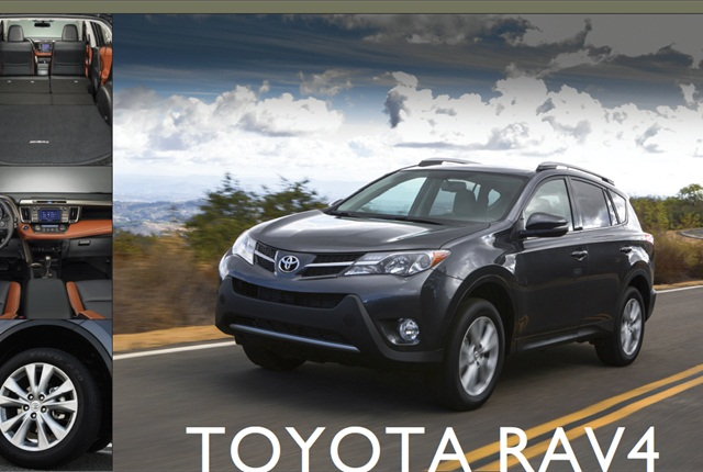 The 2013 RAV4 comes with a 2.5L four-cylinder engine option.