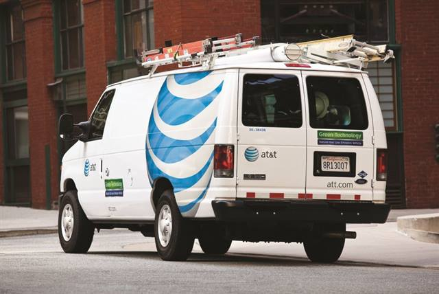 By 2013, AT&T expects to have up to 8,000 CNG-vehicles in its fleet. The CNG van (pictured above) is one of the communications company's 3,196 CNG units in operation today.