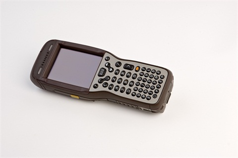 The new mobile device, called the DIAD V, that UPS' drivers are using.