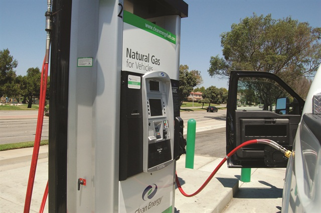 "Fueling with CNG at public fueling stations is similar to fueling with traditional gasoline or diesel. Public stations take credit cards and are ""fast fill,"" meaning they can fuel a vehicle in about the same time as a standard fuel pump."