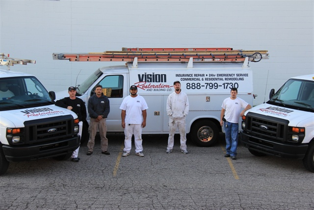 Vision Restoration and Building Co. uses Fleetmatics to manage vehicle location, which integrates with the company's Wright Express fuel cards, allowing managers to track exactly when, where and which vehicle was actually at the tank.