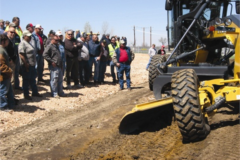 Students in the Oklahoma State University Local Technical Assistance Program (LTAP) receive grader training as part of the curriculum.