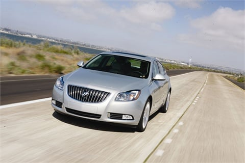 Capable of running on gasoline or E-85 ethanol, the 2011 Buick Regal Turbo features a 2.0L inline four-cylinder engine.