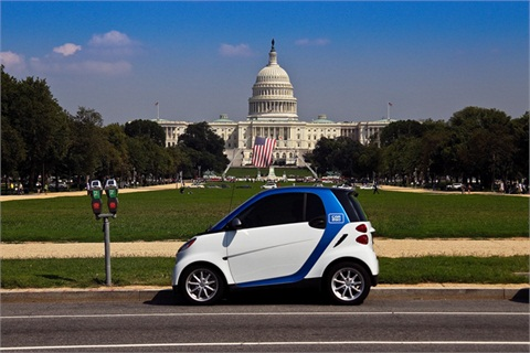 A car2go smart fortwo vehicle in Washington, D.C.