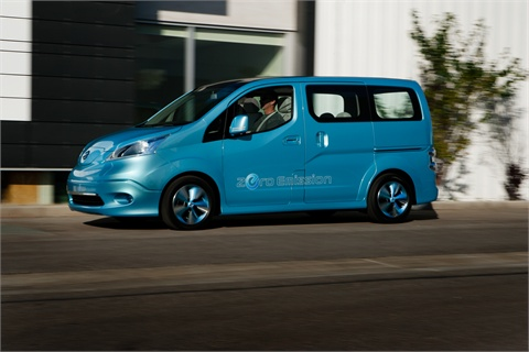 The e-NV200 Concept is powered by an 80kW AC synchronous motor.