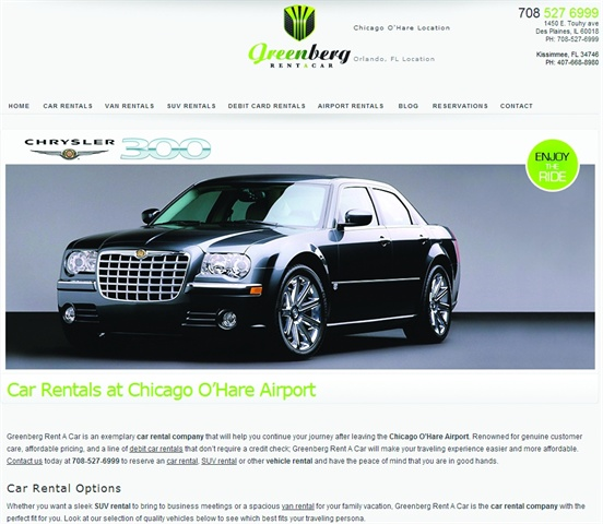 Screenshot of www.greenbergrentacar.com Now that he has his own reservation system on his website, Matt Holowinski, owner of Greenberg Rent A Car, is able to ask customers for their cell phone number and arrival flight number. He uses this to send customers a text message, giving them directions to the shuttle bus and arrival time as they reach the airport.
