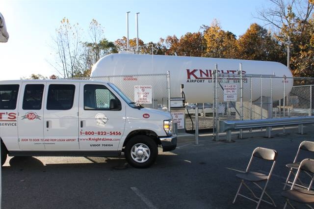 Knight's Airport Limousine Service, Inc., will start using ROUSH CleanTech Ford propane-powered passenger vans.