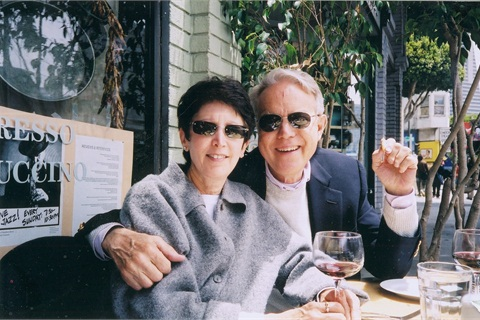 Michael and his wife Bonnie enjoy a meal at one of their favorite San Francisco restaurants.