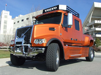 Volvo's custom VHD pickup is a hit with visitors to the New River Valley plant.