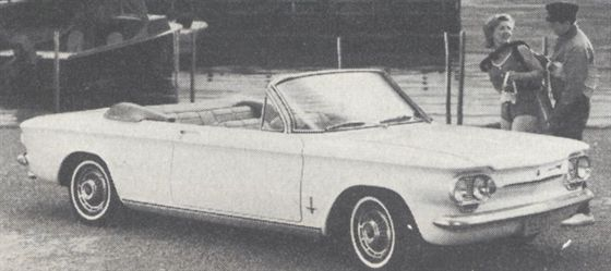 Monza convertible is one of nine Corvair models.