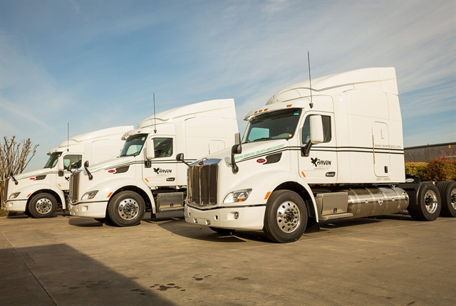 Out of Raven Transport's nearly 500 tractors, 184 run on liquified natural gas. The for-hire carrier added 115 new LNG sleeper trucks in 2015 that run irregular routes to its previous 69 dedicated day cabs running on LNG.