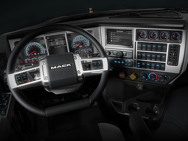 Mack Trucks today introduced all-new interiors for its rugged Mack Granite and Mack Pinnacle. Photos: Mack Trucks