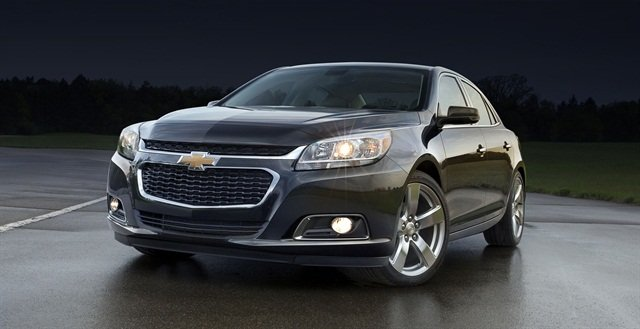 GM redesigned the Malibu's front end appearance for MY-2014. Photo courtesy GM.