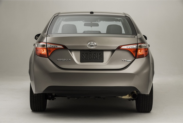 The rear view of the 2014 Corolla LE Eco.