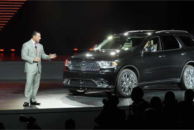 Reid Bigland, President and CEO - Dodge Brand, introduced the new 2014 Dodge Durango at the New York International Auto Show. Photo courtesy Chrysler Group.