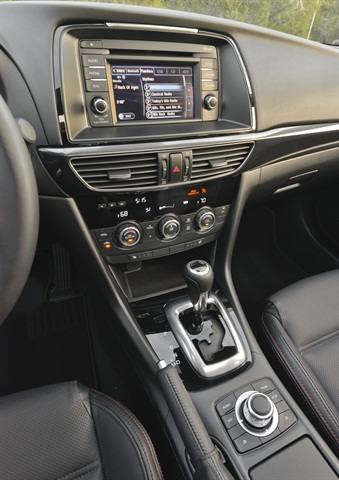 The 2014 Mazda6 and 2014 CX-5 will both feature a 5.8-inch in-dash touchscreen display.