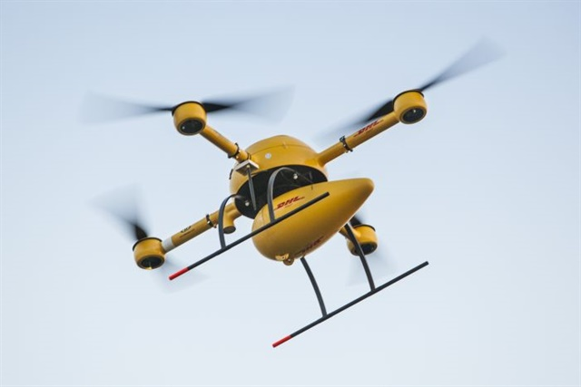 DHL is just one company that has been researching the use of transport drones in parcel logistics. Photo: DHL