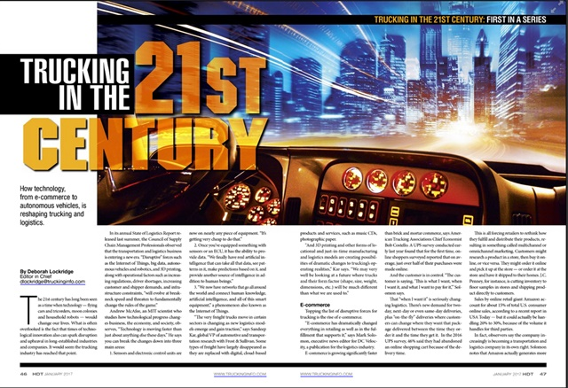 The Trucking in the 21st Century series is a finalist in the Neal Awards' Best Series category.