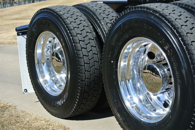 Polished aluminum wheels are a common choice for weight- and image-conscious carriers. Photo: Arconic