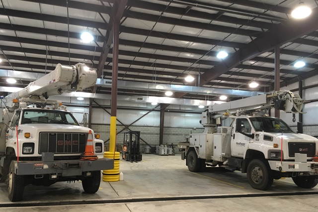 The utility's new service center can accommodate all of Mon Power's trucks and most of its equipment. Photo via Flickr/FirstEnergy Corp.