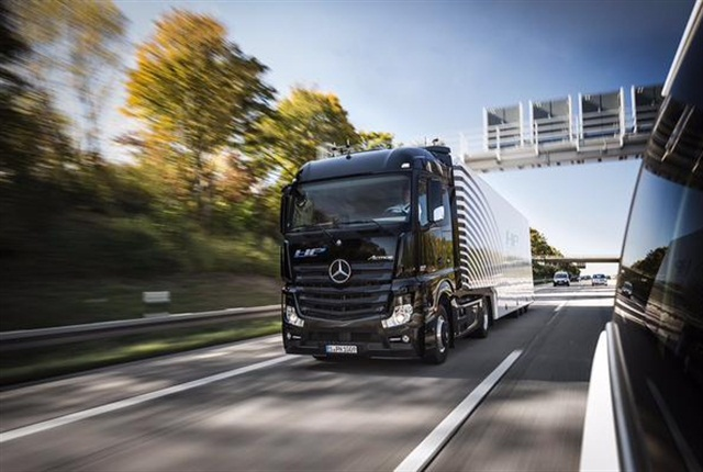 Daimler Trucks testing the first series-production autonomous truck on public roads. Photo: Daimler