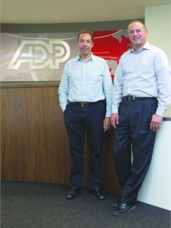 Michael Bieger, senior director of global procurement for ADP (right) and Hugo Del Mar, senior director global procurement for ADP in Hungerford, United Kingdom, work together overseeing the company's fleet.Photo Mark Ja Worski