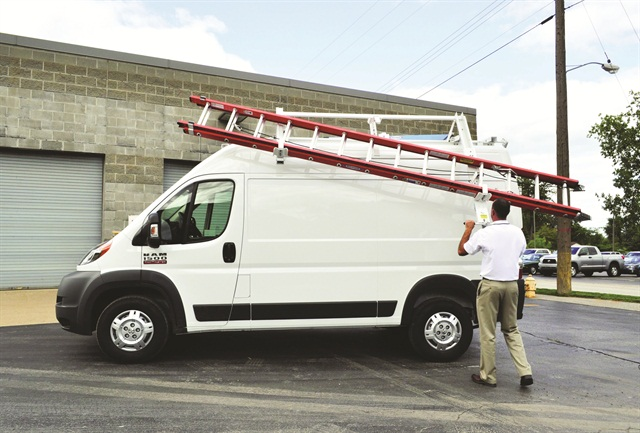 Adrian Steel's new LoadsRite Drop Down Ladder Rack will help load and unload ladders off a van's roof.