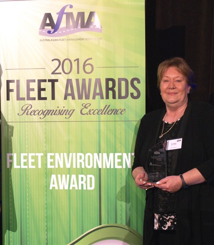 Jan Zagari of Austin Health received the Fleet Environment Award by AFMA. Photo: AfMA