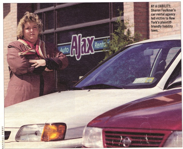Sharon Faulkner owned an Ajax Auto Rental franchise in Albany, N.Y., in 1988, when the car rental industry was blindsided by a law that banned the sale of CDW. Today Faulkner is the executive director of the American Car Rental Association.