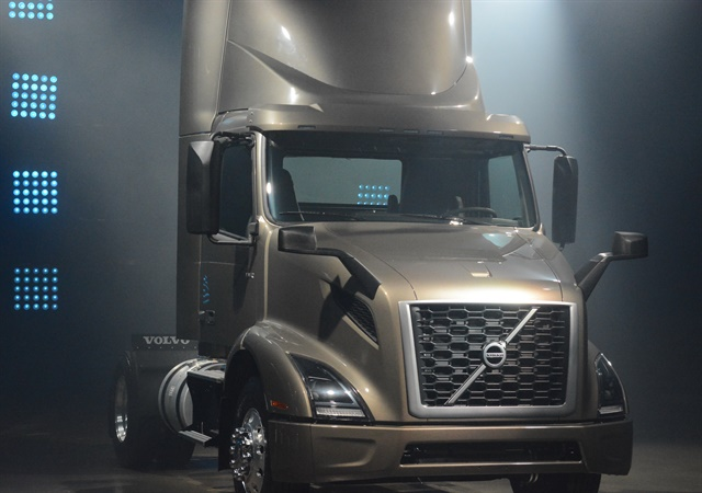 Volvo's VNR 300 regional truck launched in Montreal on April 19, 2017. Photo by Jim Park