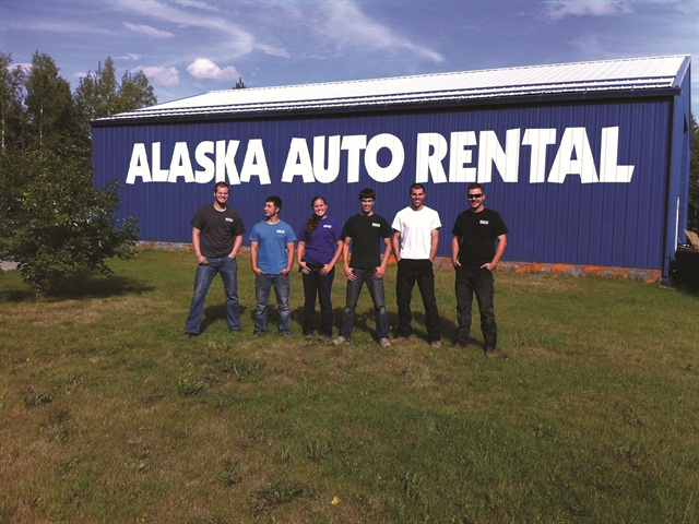 Peter Chapman (in white) is general manager of Alaska Auto Rental in Fairbanks.