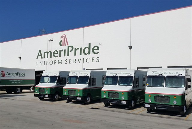 AmeriPride has replaced more than 40% of its fleet, which currently totals close to 1,900 vehicles. This includes 15 natural gas-fueled trucks, six hybrid-electric cargo vans, three hydraulic hybrid trucks and five propane-fueled trucks.