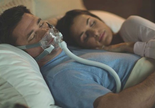 A common therapy for obstructive sleep apnea is continuous positive airway pressure, known as CPAP. Photos: Safety First Sleep Solutions