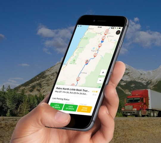 Trucker Path helps drivers plan their route, find trucking and other points of interest. Photo: Trucker Path