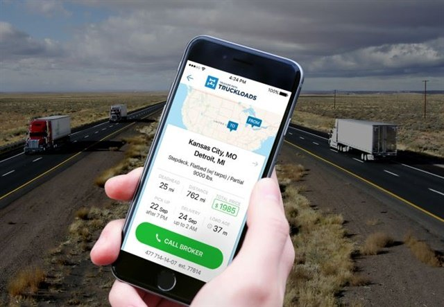 Truckloads is a freight-matching app from Trucker Path. Photo: Trucker Path