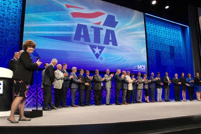 ATA members are honored for excellence in the EPA's Smartway program. Photo: Evan Lockridge