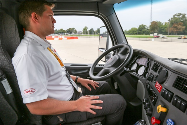 Paccar is using the Consumer Electronics Show in Las Vegas to show off new technology, including Peterbilt's Level 4 autonomous Model 579 tractor. Photo: Peterbilt