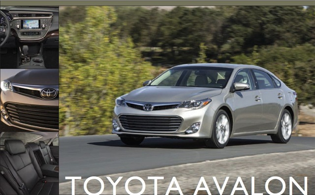 The 2013 Toyota Avalon.