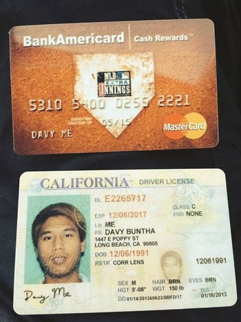 A renter of Black & White Car Rental in Beverly Hills used this credit card and driver's license. Though the company was able to ring through a $50,000 deposit on the credit card, the card proved to be fraudulent. Most commercial insurance policies for exotic cars do not cover customer theft. Luckily, the renter left the car at a hotel.