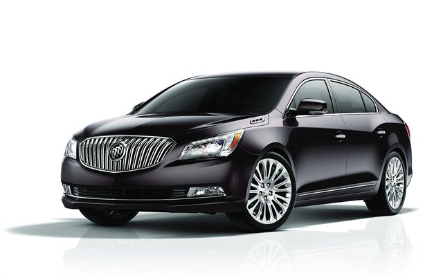 The 2014 Buick LaCrosse was redesigned with a waterfall grille, chrome accents, and LED wraparound taillamps.