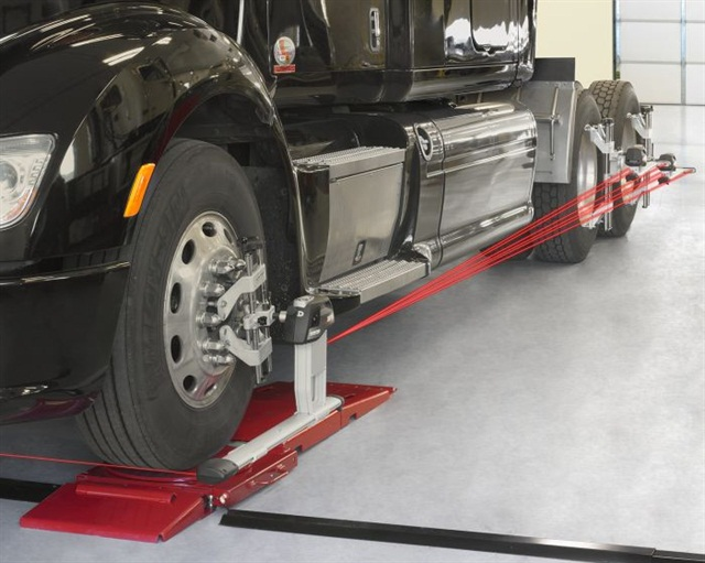 Infrared or laser alignment machines make it easy to check alignment, the first step in curing irregular tire wear.