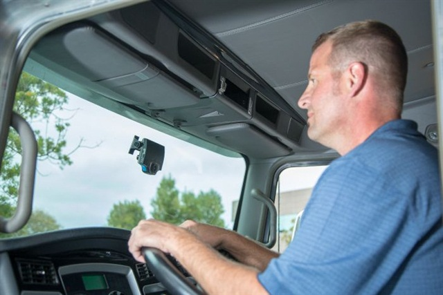 Fleets can see real improvement with in-cab video systems.Photo courtesy of Lytx