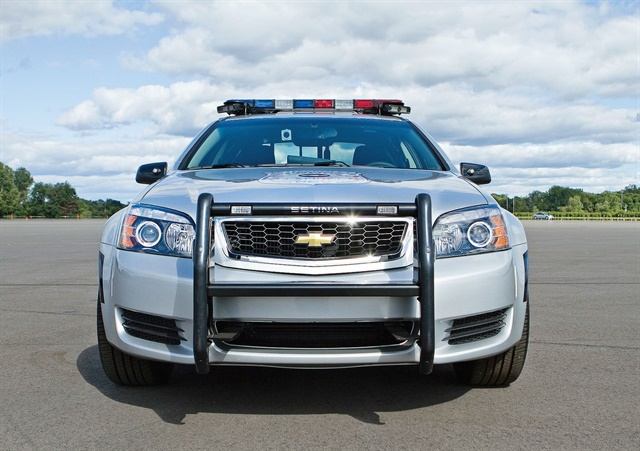 The Chevrolet Caprice PPV features a standard V-6 or available V-8 engine. Photo courtesy of GM
