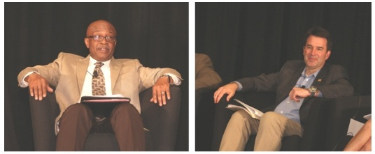Moderators Levi McCoy of LeasePlan USA (left) and Tim Meta of Fifth Third Bank.